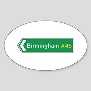 Birmingham Roadmarker, UK Oval Sticker