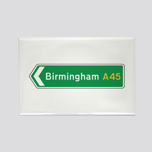 Birmingham Roadmarker, UK Rectangle Magnet