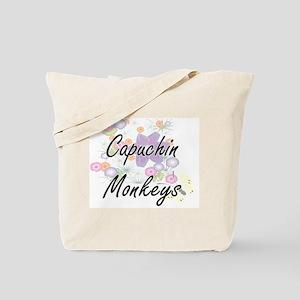 Capuchin Monkeys artistic design with flo Tote Bag