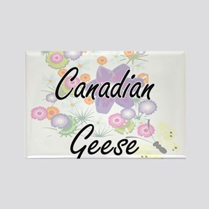 Canadian Geese artistic design with flower Magnets