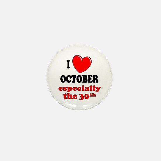 October 30th Mini Button