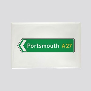Portsmouth Roadmarker, UK Rectangle Magnet