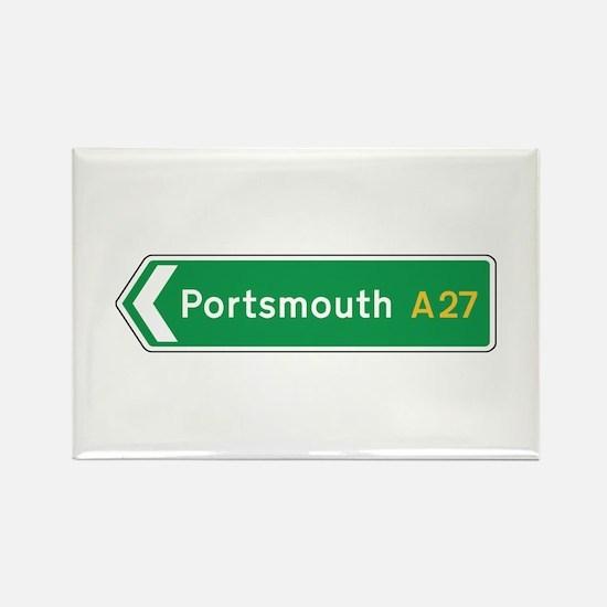 Portsmouth Roadmarker, UK Rectangle Magnet