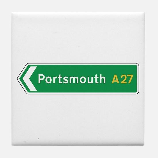 Portsmouth Roadmarker, UK Tile Coaster