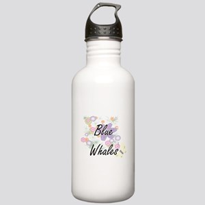 Blue Whales artistic d Stainless Water Bottle 1.0L