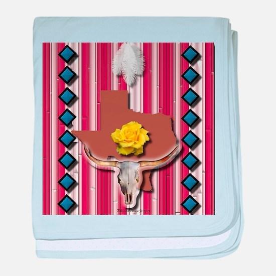 Yellow Rose of Texas baby blanket