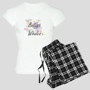 Beluga Whales artistic desi Women's Light Pajamas