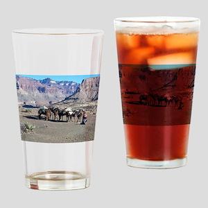South Kiabab Mule Ride To Phantom R Drinking Glass