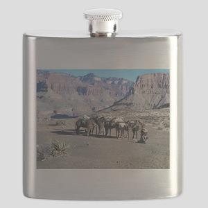 South Kiabab Mule Ride To Phantom Ranch Flask