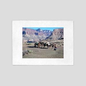 South Kiabab Mule Ride To Phantom R 5'x7'Area Rug