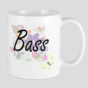 Bass artistic design with flowers Mugs
