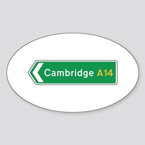 Cambridge Roadmarker, UK Oval Sticker