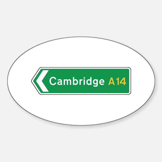 Cambridge Roadmarker, UK Oval Decal