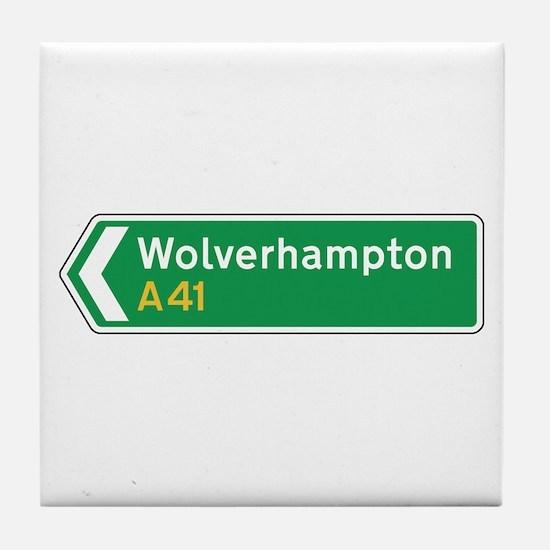 Wolverhampton Roadmarker, UK Tile Coaster