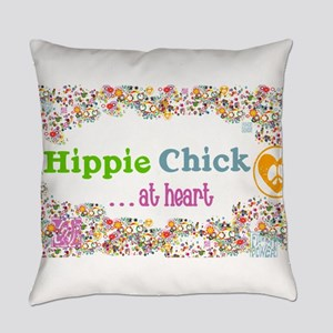 Hippie Chick at Heart Everyday Pillow