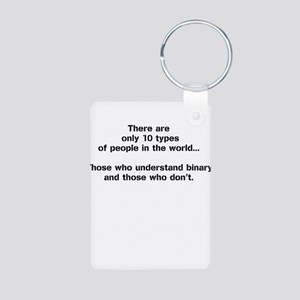 10 Types of People - Binary Keychains