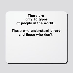 10 Types of People - Binary Mousepad