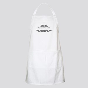 10 Types of People - Binary Light Apron
