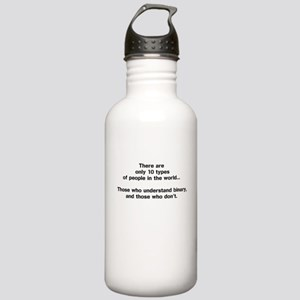10 Types of People - Binary Water Bottle