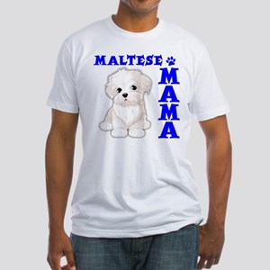 MALTESE MAMA Fitted T-Shirt