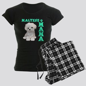 MALTESE MAMA Women's Dark Pajamas
