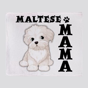 MALTESE MAMA Throw Blanket