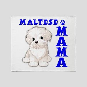 MALTESE MAMA Throw Blanket