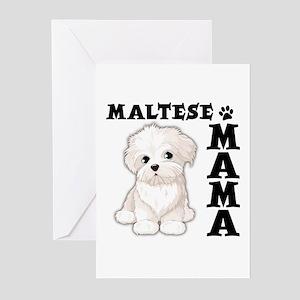 MALTESE MAMA Greeting Cards (Pk of 10)