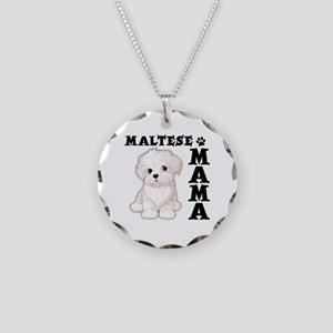 MALTESE MAMA Necklace Circle Charm