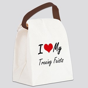 I Love my Treeing Feists Canvas Lunch Bag