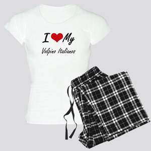 I Love my Volpino Italianos Women's Light Pajamas