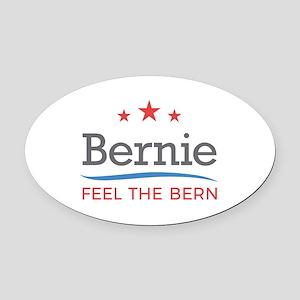 Bernie Feel The Bern Oval Car Magnet