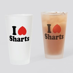 I Heart Sharts Drinking Glass