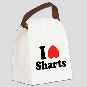 I Heart Sharts Canvas Lunch Bag