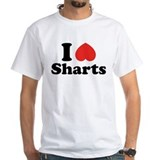 I love farting Mens Classic White T-Shirts