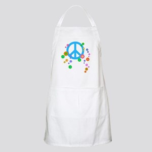 Peace sign and Flowers Apron