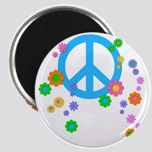 Peace Sign And Flowers Magnet Magnets