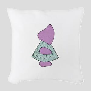 Sunbonnet Sue (quilt applique) Woven Throw Pillow