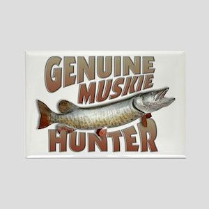 Muskie Hunter Rectangle Magnet