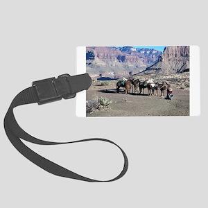 South Kiabab Mule Ride To Phanto Large Luggage Tag