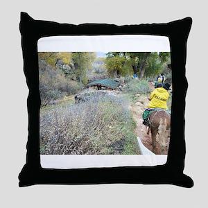 Bright Angel Mule Ride To Phantom Ran Throw Pillow