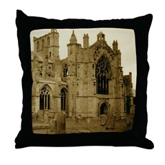 Melrose Abbey Throw Pillow