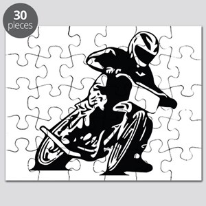 Flat Track One Black Bike Puzzle