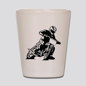 Flat Track One Black Bike Shot Glass