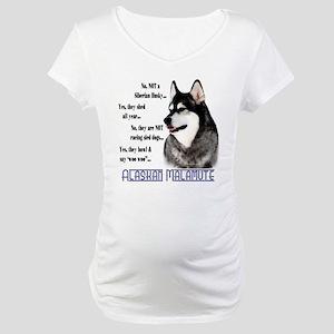 Malamute FAQ2 Maternity T-Shirt