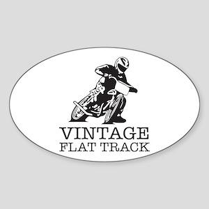Flat Track One Bike Logo Sticker