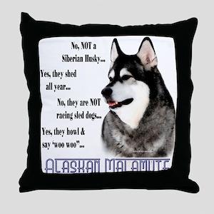 Malamute FAQ2 Throw Pillow