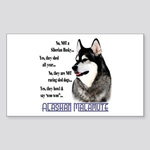 Malamute FAQ2 Rectangle Sticker