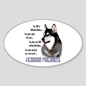 Malamute FAQ2 Oval Sticker