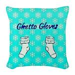 Ghetto Gloves Woven Throw Pillow